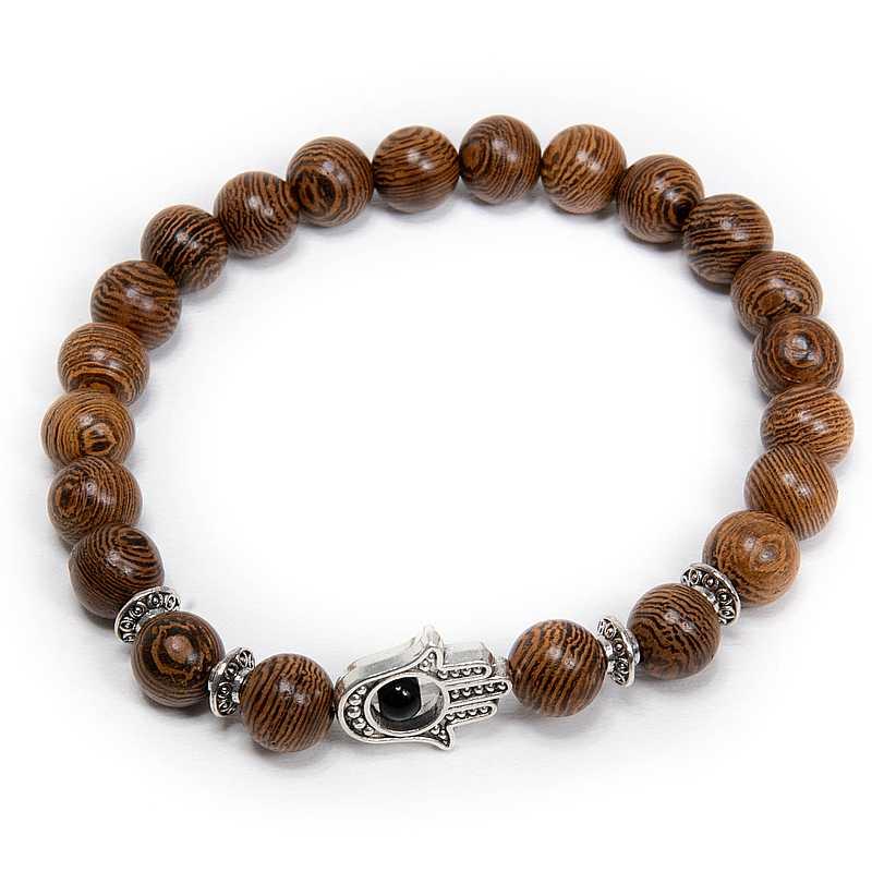 fa karkötő hamsza kéz barna fém
