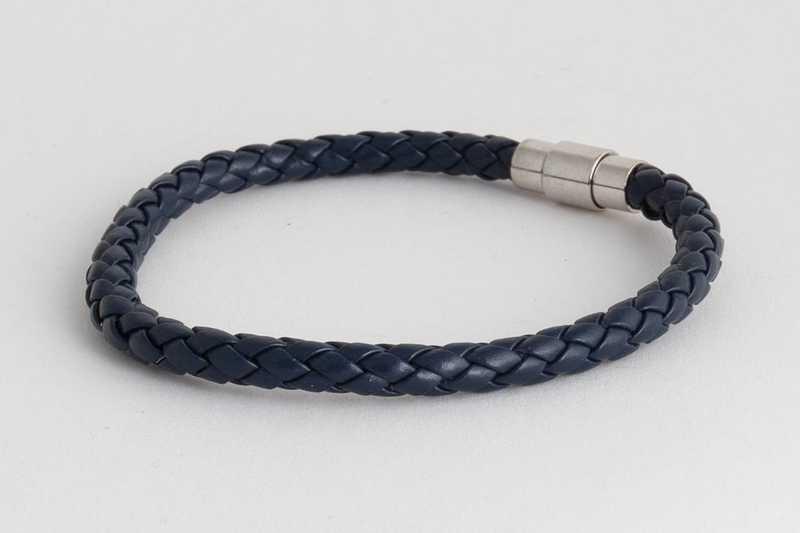 Férfi karkötő bőr kék