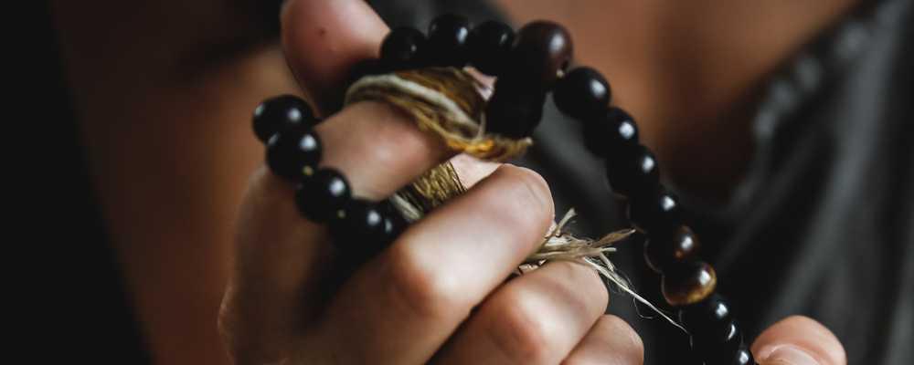 Gyöngy karkötő fekete
