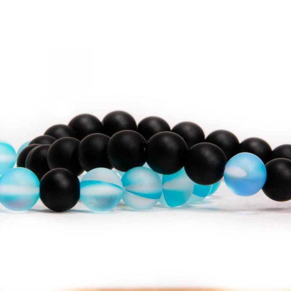 páros karkötő fekete kék gyöngy