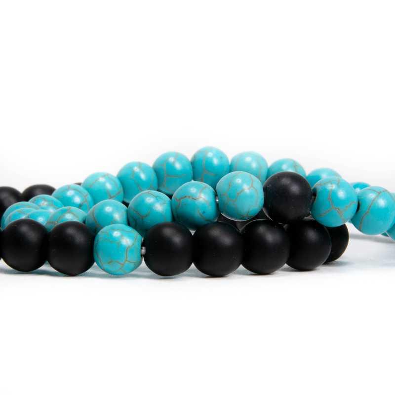 páros karkötő ónix kék fekete